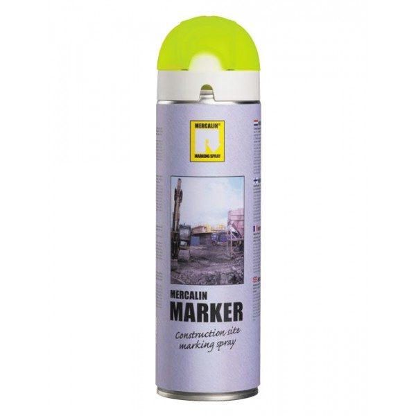 Mercalin Marker - Fluorescerande gul märkspray 500ml