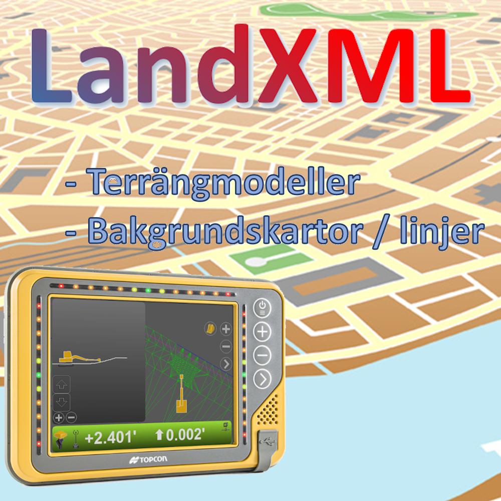 Stöd för LandXML